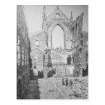 Ruinas católicas de la catedral durante la guerra  tarjeta postal