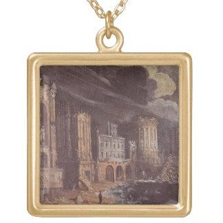 Ruinas con la leyenda de St Augustine (el aceite e Collar Personalizado