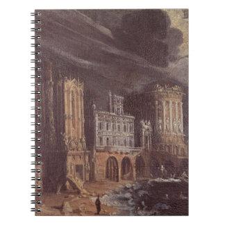 Ruinas con la leyenda de St Augustine (el aceite e Spiral Notebooks