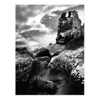 Ruinas de Ayrshire viejo Escocia de Dunure de la Postal