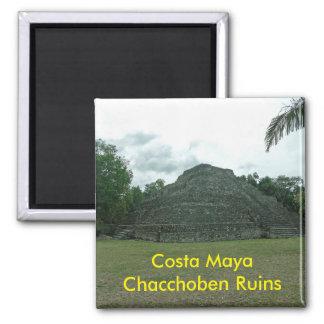 Ruinas de Chacchoben del maya de la costa, Mexixo Imán Cuadrado