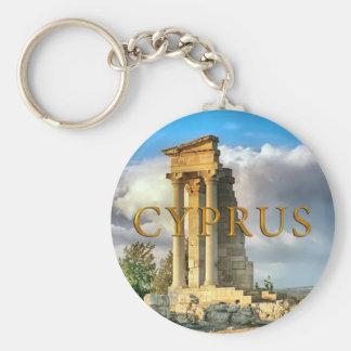 Ruinas de Chipre Llavero Redondo Tipo Pin