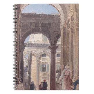 Ruinas de Diocletian en Spalato de Rudolf von Alt Libros De Apuntes Con Espiral