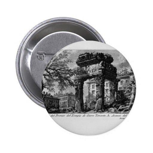 Ruinas de Juan Piranesi- de los pronaos del templo Pin Redondo 5 Cm