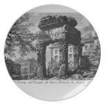Ruinas de Juan Piranesi- de los pronaos del templo Plato De Cena