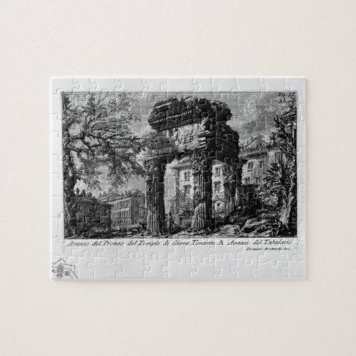 Ruinas de Juan Piranesi- de los pronaos del templo Rompecabezas