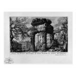 Ruinas de Juan Piranesi- de los pronaos del templo Tarjeta Postal