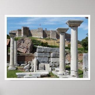 Ruinas de la basílica de San Juan, castillo de Aya Posters