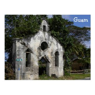 Ruinas de la iglesia baptista de Guam Tarjetas Postales