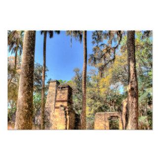 Ruinas de la plantación de Bulow, la Florida Fotografías