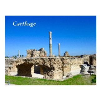 Ruinas de la postal de Cartago
