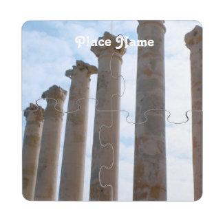 Ruinas de Libia Posavasos De Puzzle