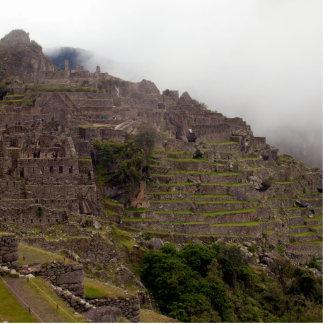 Ruinas de Machu Picchu, cierre de Perú para arriba Fotoescultura Vertical