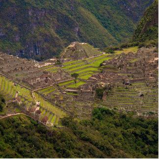 Ruinas de Machu Picchu, Perú Fotoescultura Vertical