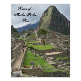 Ruinas de Machu poster de Picchu, Perú