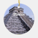 Ruinas de México Adorno Redondo De Cerámica