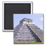 Ruinas de México Imán Cuadrado