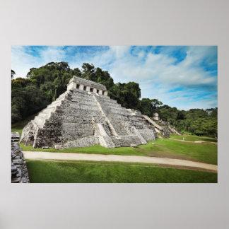 Ruinas de Palenque - templo de inscripciones Póster