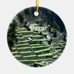 Ruinas de Perú Ornamento De Navidad