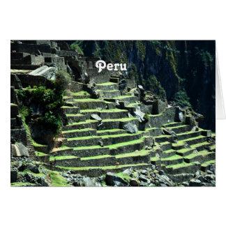 Ruinas de Perú Tarjeta De Felicitación