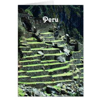 Ruinas de Perú Tarjeta Pequeña