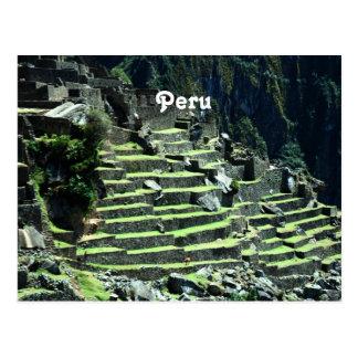 Ruinas de Perú Tarjeta Postal