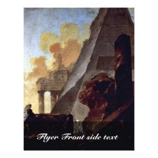 Ruinas de pirámides de Barbault Jean (la mejor cal Tarjeta Publicitaria