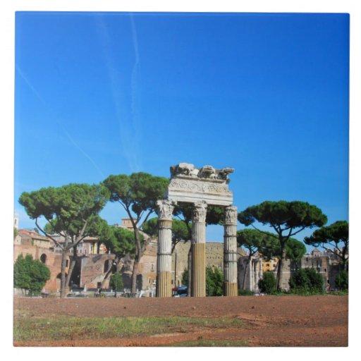 Ruinas de Roma Azulejo Cuadrado Grande