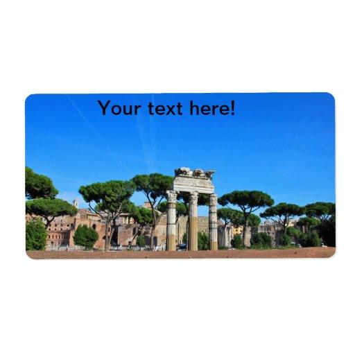 Ruinas de Roma Etiqueta De Envío