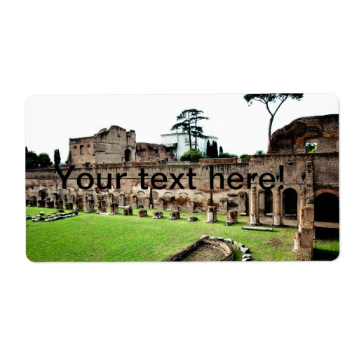 Ruinas de Roma Etiquetas De Envío