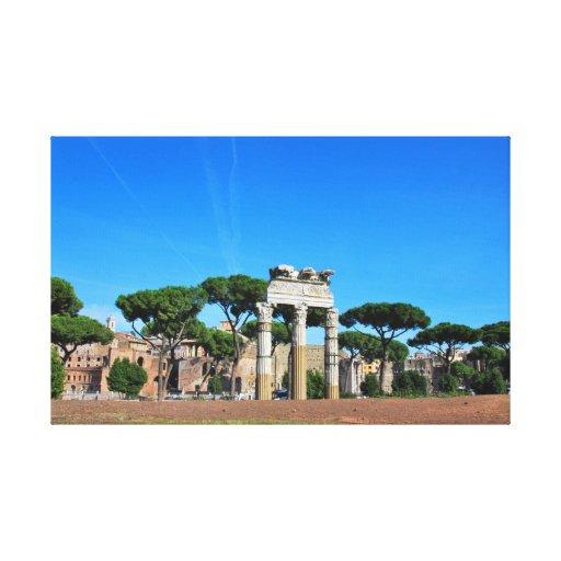 Ruinas de Roma Lienzo Envuelto Para Galerias