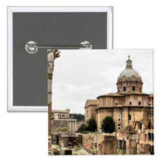 Ruinas de Roma Pin Cuadrada 5 Cm