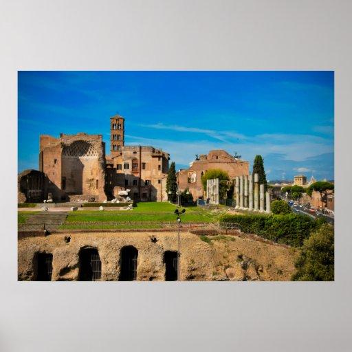 Ruinas de Roma Póster