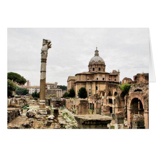 Ruinas de Roma Tarjetón