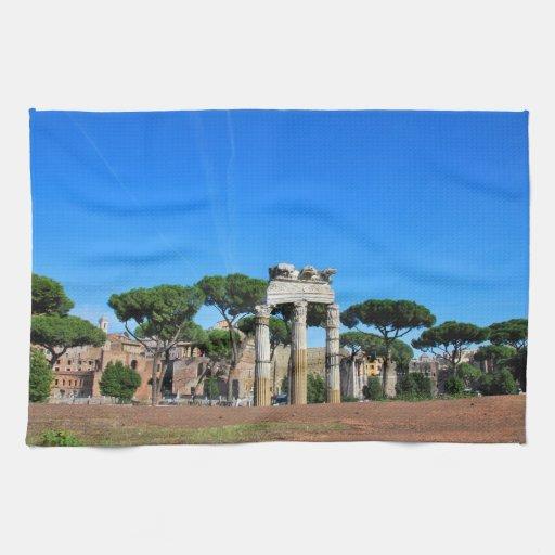 Ruinas de Roma Toalla De Cocina