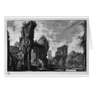 Ruinas de Sixtus, o ambas gran pasillo Tarjeta De Felicitación