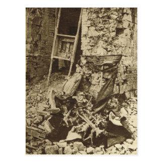 Ruinas de una iglesia en el Somme Postal