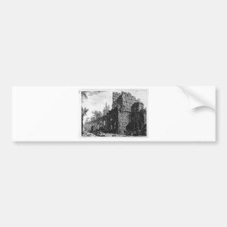 Ruinas de uno de los soldados del ` de las cámaras pegatina para auto