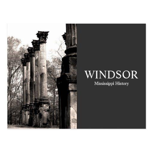 Ruinas de Windsor - historia de Mississippi Tarjetas Postales