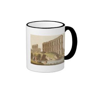 Ruinas del acueducto magnífico de Cartago antiguo Tazas De Café