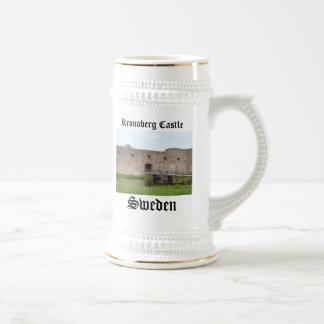 Ruinas del castillo de Kronoberg - Suecia Jarra De Cerveza