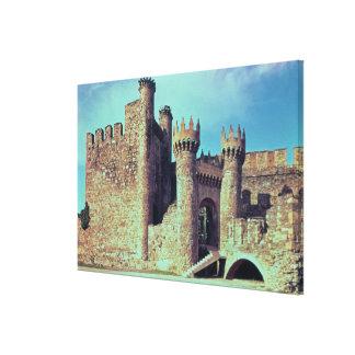 Ruinas del castillo de los caballeros Templar Lona Estirada Galerias