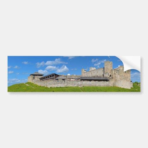 Ruinas del castillo de Rakvere, condado de Lääne-V Etiqueta De Parachoque