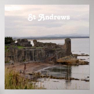 Ruinas del castillo de St Andrew Póster