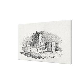 Ruinas del castillo impresiones en lona estiradas