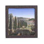 Ruinas del Colosseum romano de IL Palatino, Cajas De Recuerdo De Calidad