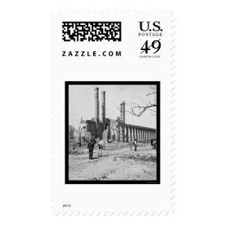 Ruinas del depósito del ferrocarril en Charleston, Sellos