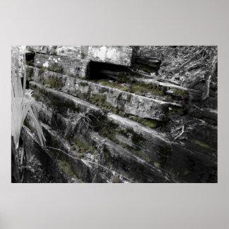 Ruinas del ferrocarril de Flagler Poster