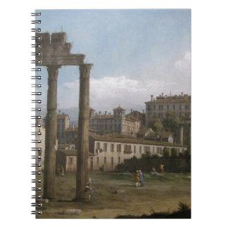 Ruinas del foro, Roma de Bernardo Bellotto Libros De Apuntes Con Espiral