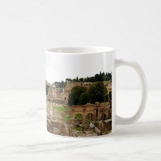Ruinas del foro romano taza